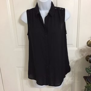 Express Black Sleeveless Top w/Lace (size S)(G2)